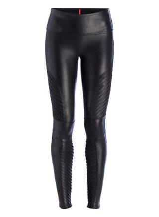 Spanx Shape-Leggings Moto Leggings Damen, Schwarz