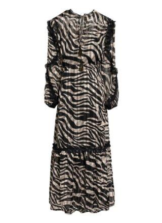 Summum Woman Kleid mit Spitzenbesatz, Schwarz