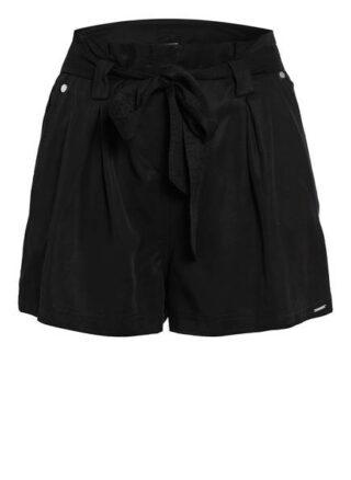 Superdry Paperbag-Shorts Desert, Schwarz
