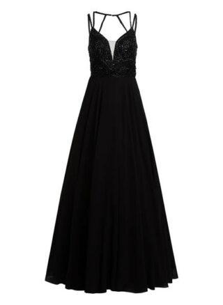Unique Abendkleid mit Stola, Schwarz