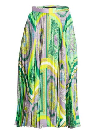 Versace Plisseerock, Grün