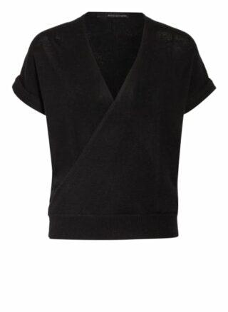 360cashmere Strickshirt Aus Cashmere In Wickeloptik schwarz
