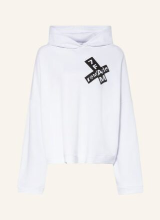 7 For All Mankind Hoodie weiss