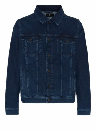 7 For All Mankind Perfect Jacket Eco Jeansjacke Herren, Blau