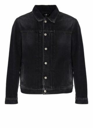 7 For All Mankind Jeansjacke Pleated Jacket schwarz