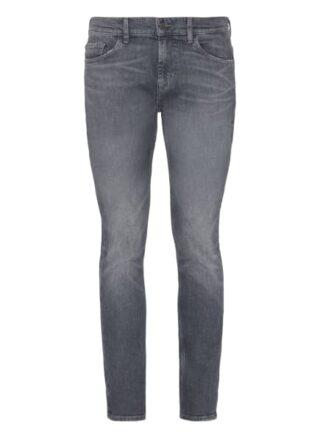 7 For All Mankind Ronnie Skinny Jeans Herren, Grau