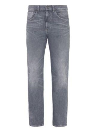 7 For All Mankind Cooper Straight Leg Jeans Herren, Grau
