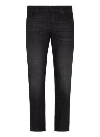 7 For All Mankind Standard Eco Straight Leg Jeans Herren, Schwarz