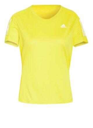 Adidas Laufshirt Own The Run Mit Mesh-Einsätzen gelb