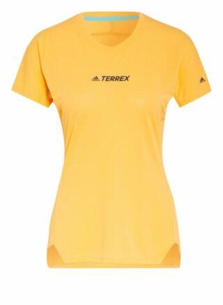 Adidas Laufshirt Terrex Parley Agravic Mit Mesh-Einsätzen orange