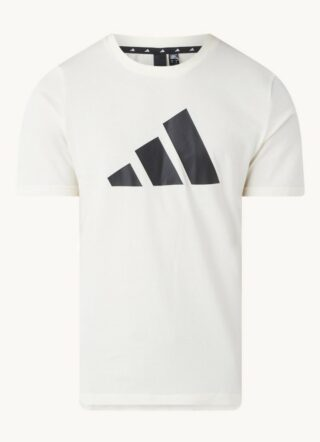 Adidas Sport T-Shirt Herren, Logoprint, Beige