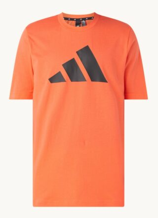 Adidas Sport T-Shirt Herren, Logoprint, Orange
