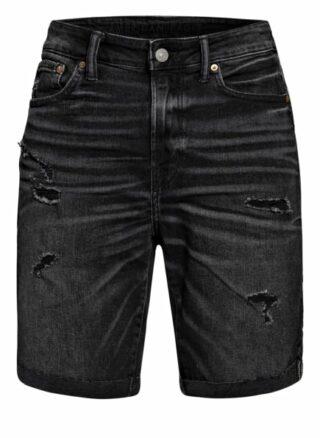 American Eagle Jeans-Shorts schwarz
