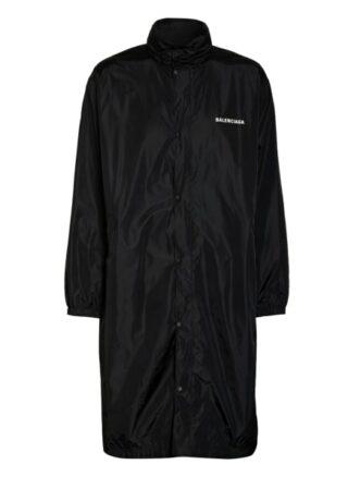 Balenciaga Oversized-Regenmantel schwarz