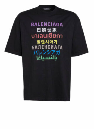 Balenciaga Oversized-Shirt Herren, Schwarz