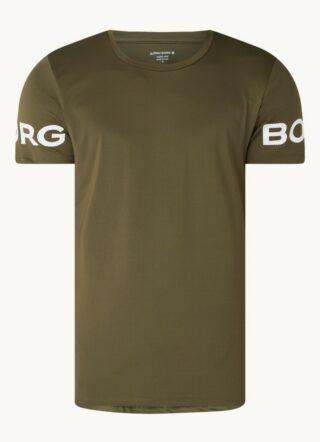 Björn Borg Trainings-T-Shirt Herren, Grün