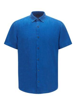 Boss Rash Kurzarm-Hemd Herren, Blau