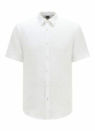 Boss Ronn 2 Kurzarm-Hemd Herren, Weiß