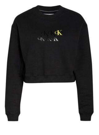 Calvin Klein Jeans Cropped-Sweatshirt schwarz