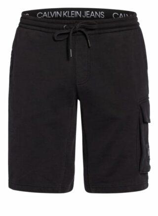 Calvin Klein Jeans Sweatshorts Herren, Schwarz