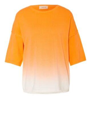 Cartoon Pullover Mit 3/4-Arm orange