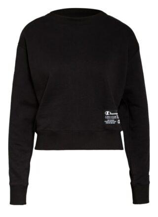 Champion Sweatshirt Mit Galonstreifen schwarz