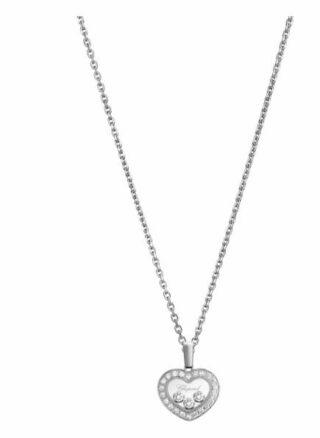 Chopard Anhänger Happy Diamonds Icons Anhänger Aus 18 Karat Weißgold Und Diamanten silber