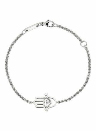 Chopard Armband Happy Diamonds Good Luck Charms Armband Aus 18 Karat Weißgold Und Diamanten silber