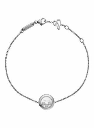 Chopard Armband Happy Diamonds Icons Armband Aus 18 Karat Weißgold Und Diamanten silber