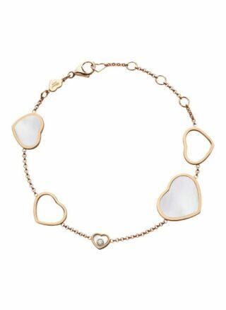 Chopard Armband Happy Hearts Armband Aus 18 Karat Roségold, Diamanten Und Perlmutt rosegold