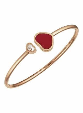 Chopard Armreif Happy Hearts Armreif Aus 18 Karat Roségold, Diamanten Und Roter Stein rosegold