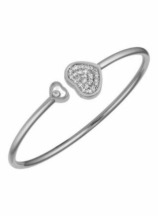 Chopard Armreif Happy Hearts Armreif Aus 18 Karat Weißgold Und Diamanten silber