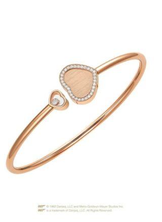 Chopard Armreif Happy Hearts Golden Hearts Armreif Aus 18 Karat Roségold Und Diamanten rosegold