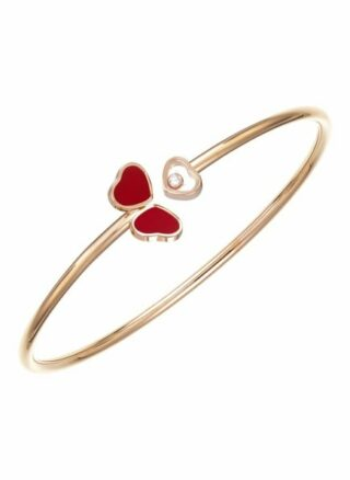 Chopard Armreif Happy Hearts Wings Armreif Aus 18 Karat Roségold, Diamanten Und Roter Stein rosegold