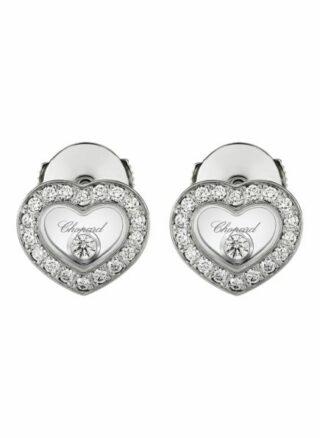 Chopard Ohrring Happy Diamonds Icons Ohrringe Aus 18 Karat Weißgold Und Diamanten silber