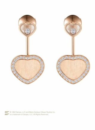 Chopard Ohrring Happy Hearts Golden Hearts Ohrringe Aus 18 Karat Roségold Und Diamanten rosegold