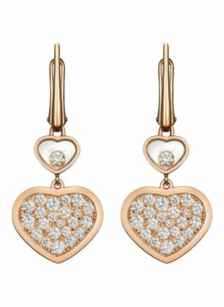 Chopard Ohrring Happy Hearts Ohrringe Aus 18 Karat Roségold Und Diamanten rosegold