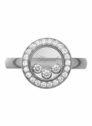Chopard Ring Happy Diamonds Icons Ring Aus 18 Karat Weißgold Und Diamanten silber