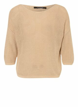 Comma Pullover Mit 3/4-Arm beige