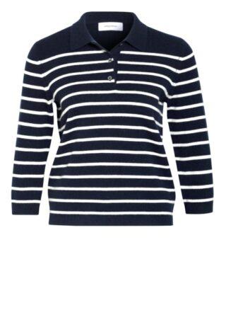 Darling Harbour Strick-Poloshirt Mit 3/4-Arm blau