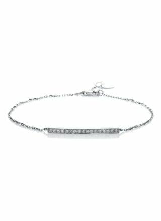Diamond Group Armband silber