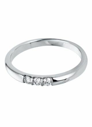 Diamond Group Ring Mit Diamanten silber
