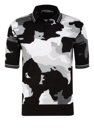 Dolce&Gabbana Strick-Poloshirt Herren, Grau