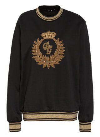 Dolce&Gabbana Sweatshirt Mit Schmucksteinbesatz schwarz