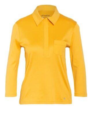 Efixelle Jersey-Poloshirt Mit 3/4-Arm beige