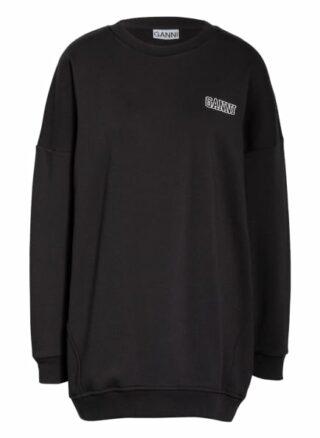 Ganni Oversized-Sweatshirt schwarz