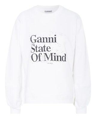 Ganni Sweatshirt weiss