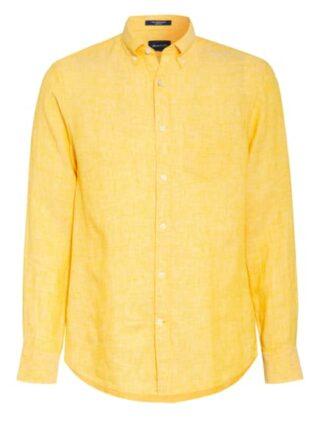 Gant Leinenhemd Herren, Gelb