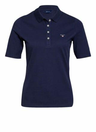 Gant Piqué-Poloshirt Damen, Blau