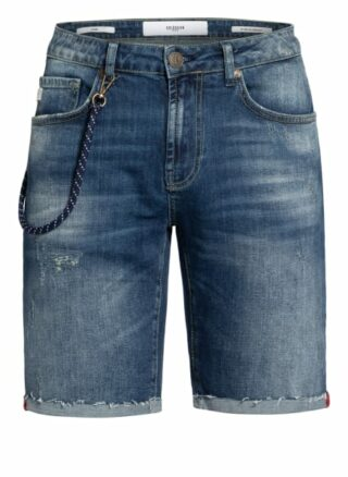 GOLDGARN DENIM Planken Jeans-Shorts Herren, Blau